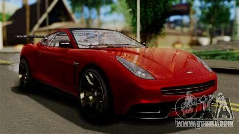 GTA 5 Dewbauchee Massacro Racecar (IVF) for GTA San Andreas
