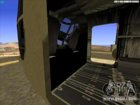 GTA 5 Cargobob for GTA San Andreas back view