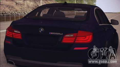 BMW M550d 2014 for GTA San Andreas back view