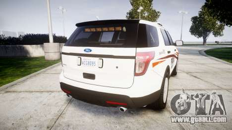 Ford Explorer 2013 Police Interceptor [ELS] for GTA 4 back left view