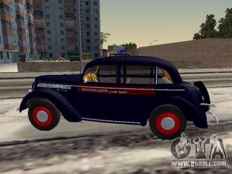 Moskvich 400 Police for GTA San Andreas left view