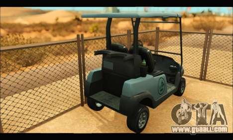 Caddy (GTA V) for GTA San Andreas back left view
