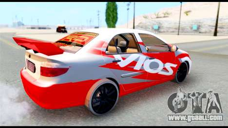 Toyota Vios TRD Racing for GTA San Andreas right view