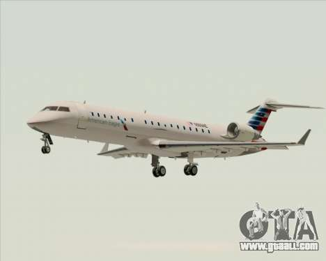 Bombardier CRJ700 American Eagle Airlines for GTA San Andreas left view
