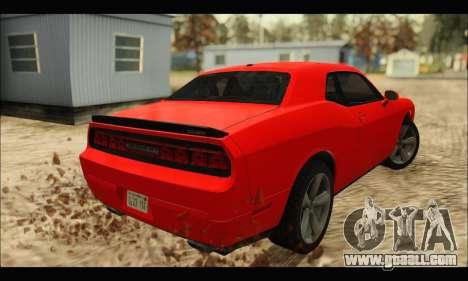 Dodge Challenger SRT-8 2010 v2.0 for GTA San Andreas back left view
