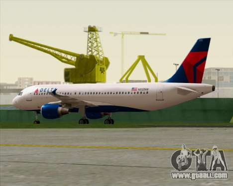 Airbus  A320-200 Delta Airlines for GTA San Andreas inner view