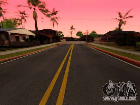 Improved texture of roads for GTA San Andreas
