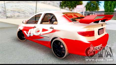 Toyota Vios TRD Racing for GTA San Andreas left view