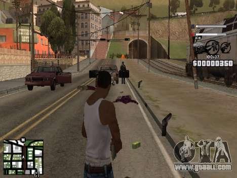 Nice C-HUD for GTA San Andreas third screenshot