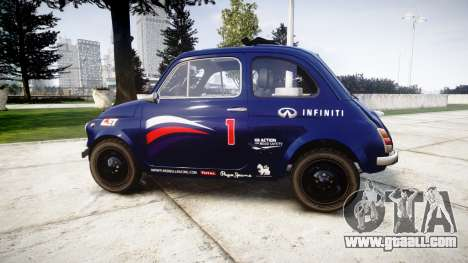Fiat 695 Abarth SS Assetto Corse 1970 Red Bull for GTA 4 left view