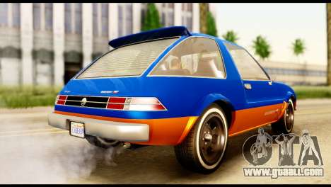 Declasse Rhapsody from GTA 5 for GTA San Andreas left view
