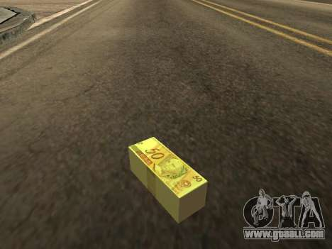 Mod of the Brazilian money for GTA San Andreas second screenshot