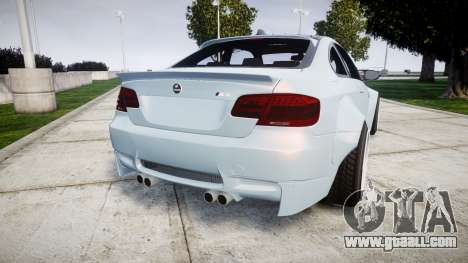 BMW E92 M3 LibertyWalk for GTA 4 back left view