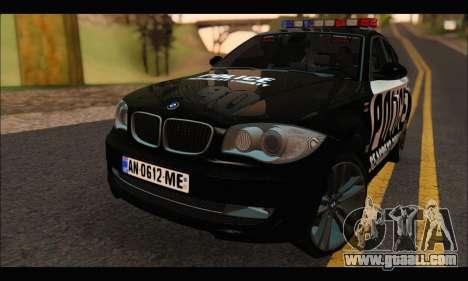 BMW 120i USA Police for GTA San Andreas