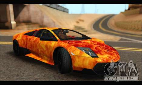 Lamborghini Murcielago In Flames for GTA San Andreas left view