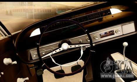 Chevrolet Impala 1963 for GTA San Andreas right view