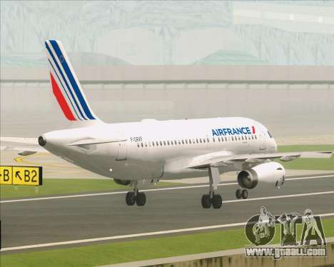 Airbus A319-100 Air France for GTA San Andreas bottom view