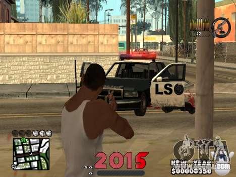 CLEO HUD New Year 2015 for GTA San Andreas forth screenshot