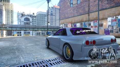 Nissan Skyline R32 GT-R Origin Kit for GTA 4 left view