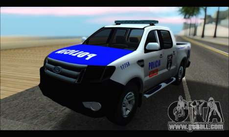 Ford Ranger P.B.A 2015 Text4 for GTA San Andreas