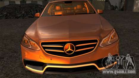 Mercedes-Benz E63 AMG 2014 for GTA San Andreas back view