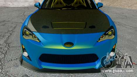 Subaru BRZ Drift Built for GTA San Andreas back view