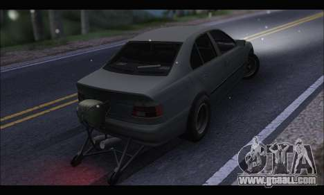 BMW e39 Drag Version for GTA San Andreas back left view