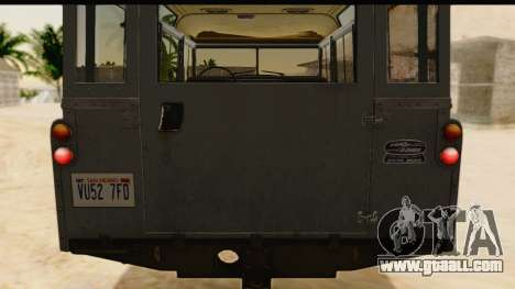 Land Rover Series IIa LWB Wagon 1962-1971 [IVF] for GTA San Andreas inner view