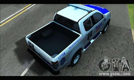 Ford Ranger P.B.A 2015 Text4 for GTA San Andreas back left view