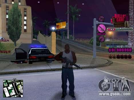 C-HUD Ballas TAWER for GTA San Andreas