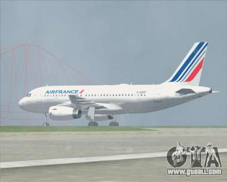 Airbus A319-100 Air France for GTA San Andreas wheels