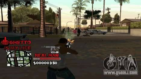 C-HUD Real Man for GTA San Andreas