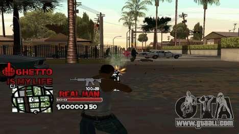 C-HUD Real Man for GTA San Andreas second screenshot