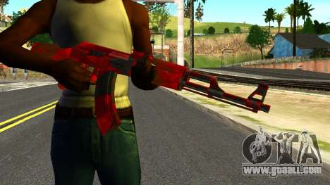 AK47 with Blood for GTA San Andreas third screenshot