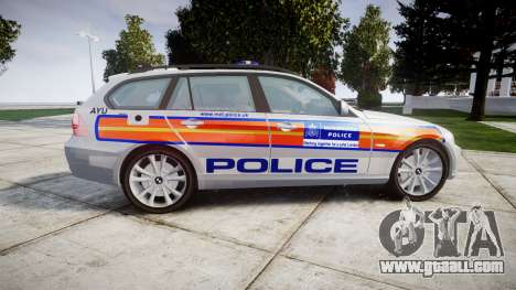 BMW 325d E91 2009 Metropolitan Police [ELS] for GTA 4 left view
