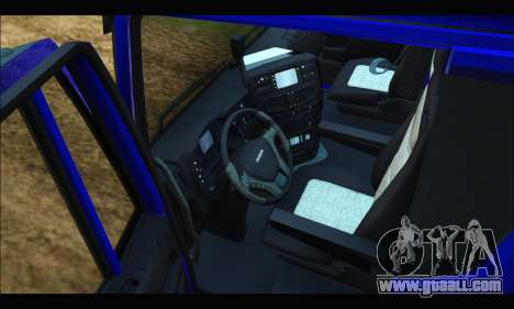 Iveco Trakker 2014 Tipper for GTA San Andreas inner view