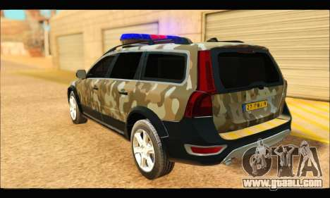 Volvo XC70 Camo for GTA San Andreas back left view