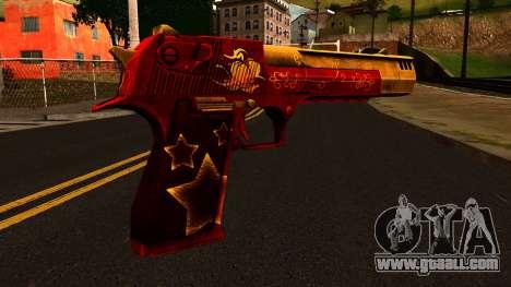 Christmas Desert Eagle for GTA San Andreas second screenshot