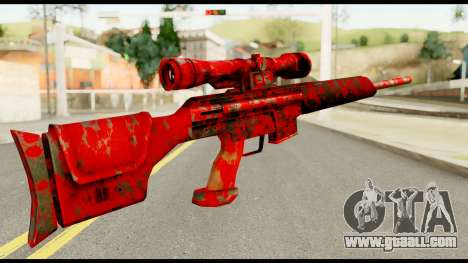 Sniper Rifle with Blood for GTA San Andreas second screenshot