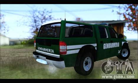 Chevrolet S-10 Gendarmeria for GTA San Andreas back left view