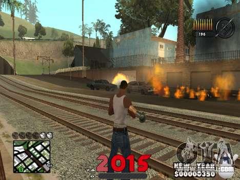 CLEO HUD New Year 2015 for GTA San Andreas second screenshot
