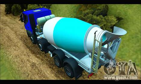 Iveco Trakker 2014 Concrete for GTA San Andreas back left view