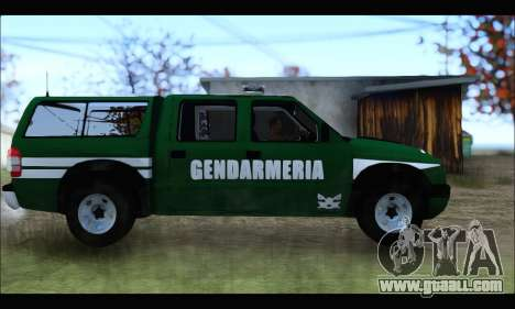 Chevrolet S-10 Gendarmeria for GTA San Andreas left view