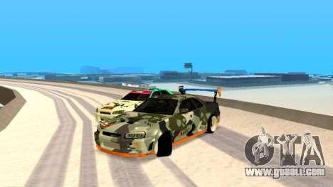 Nissan Skyline R34 FAIL CREW 2014 for GTA San Andreas