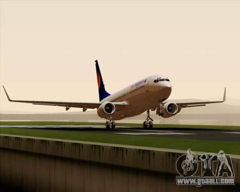 Boeing 737-800 Air Philippines for GTA San Andreas side view