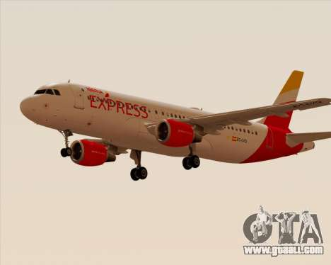 Airbus A320-200 Iberia Express for GTA San Andreas back left view