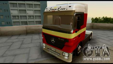Mercedes-Benz Actros PJ1 for GTA San Andreas side view