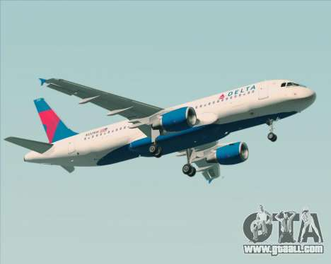Airbus  A320-200 Delta Airlines for GTA San Andreas back left view