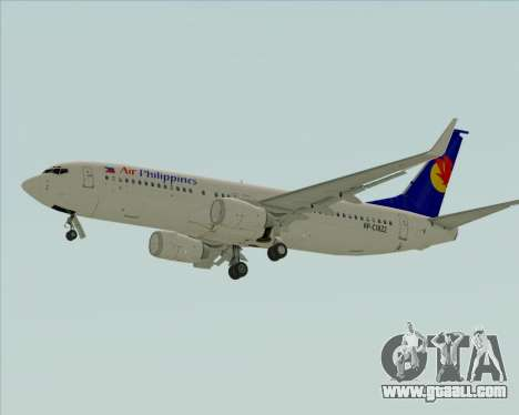 Boeing 737-800 Air Philippines for GTA San Andreas back view