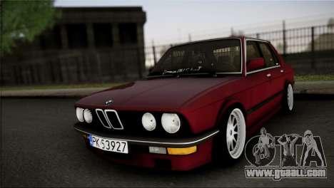 BMW M5 E28 for GTA San Andreas